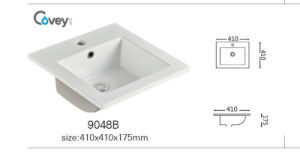 China Sanitary Ware Thin Edge Ceramic Sink/Basin with Cupc (A-9048B) pictures & photos