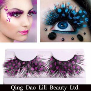 Makeup False Eyelash Brand Beauty Makeup Pink Crazy Show Party Feather False Eyelashes for Sale pictures & photos