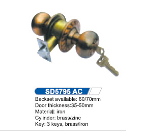 Iron Cylindrical Knob Lock 5795AC pictures & photos