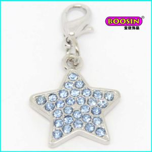 Custom Made Silver Jewelry Star Shape Crystal Pendant pictures & photos