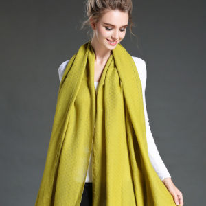 Women in Winter to Keep Warm Plain Yellow   Polyester Scarf Shawl pictures & photos