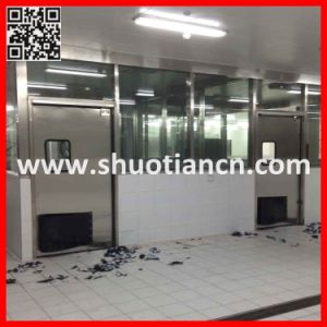 Metal Double Commercial Swing Doors (ST-006) pictures & photos