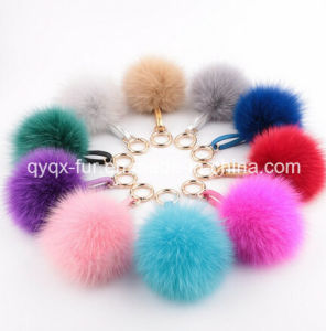 Real Fox Fur POM POM Keychain for Bags pictures & photos