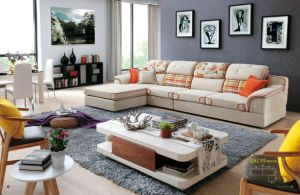 Cheap Living Room Furniture Fabric Sofa pictures & photos