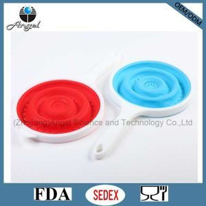 Wholesale Collapsible Silicone Colander Silicone Foldable Strainer Sk08