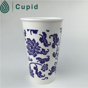 Disposable Cinema Double Wall Coffee Paper Cups with PS Lids pictures & photos