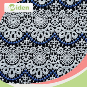60cm Wholesale African Water Soluble Flower Cotton Lace Fabric pictures & photos