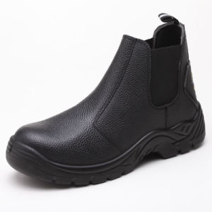Worker Industrial Leather PU Safety Shoes pictures & photos
