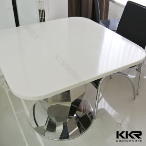 Modern Solid Surface Black Square Restaurant Table Top Wholesale pictures & photos