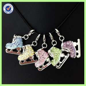 Wholesale Alloy Custom Crystal Figure Skating Pendant for Teen pictures & photos