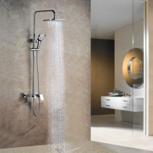 Contemporary Style Hot and Cold Brass Exposed Shower Mixer