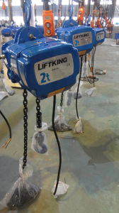 Double Chain Return Electric Chain Hoist with 2t Lifting Capacity pictures & photos