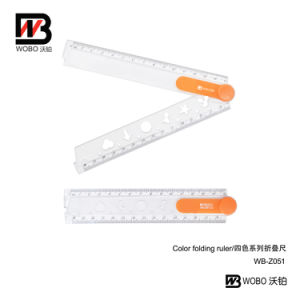 2016 Geometry Shape Folding Plastic Ruler for Office Stationery pictures & photos