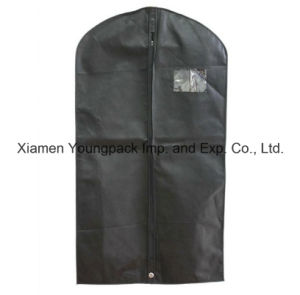 Custom Printed Black Non-Woven PP Travel Suit Bag for Men pictures & photos
