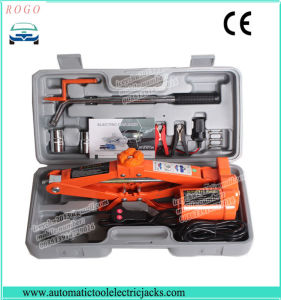 3 Tons Electric Scissor Car Lift Jack with Hand Wheel Spanner pictures & photos