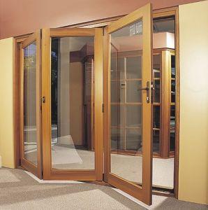 Interior/Exterior Aluminiun Casement Folding Patio Doors pictures & photos