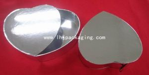 Heart Shape Wedding Chocolate Packaging Silver Gift Paper Box