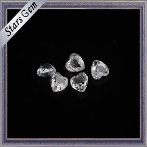 Factory Wholesale Price Heart Shape Natural White Topaz pictures & photos