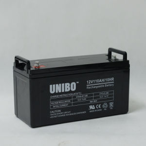 High Quality Solar Battery 12V110ah Solor System AGM Lead Acid Battery pictures & photos