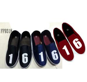 Hottest Men′s Injection Canvas Shoes Leisure Shoes (PY9318) pictures & photos
