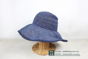 Floppy Paper Straw Hat (XH-PA2143) pictures & photos