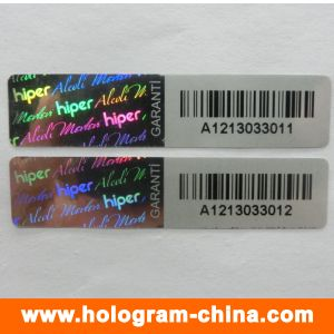 Anti-Fake 3D Laser Black Serial Number Hologram Sticker pictures & photos