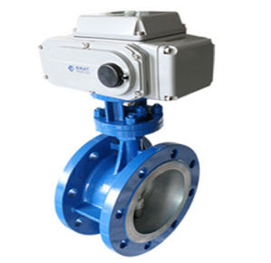 Metal Seat Electric Control Butterfly Valve pictures & photos