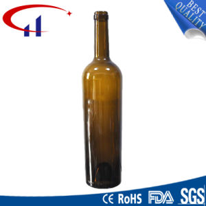 750ml Glass Bottle for Wine with Cork Cap (CHW8017) pictures & photos