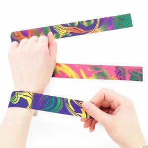 Fashion Promotional One Inch Logo Customized Silicone Slap Bracelets pictures & photos