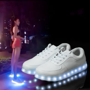 7 Colors LED Shoes Sapatilhas USB Charge Leather Sneakers Espadrilles pictures & photos