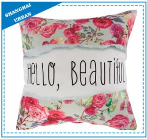 Home Decoration Floral Slogan Printed Throw Pillow pictures & photos