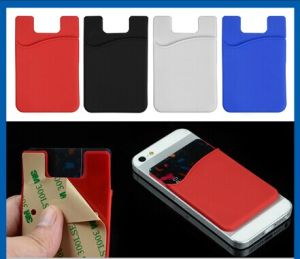 Silicone Adhesive Credit ID Card Holder / Pouch Sleeve Holder pictures & photos