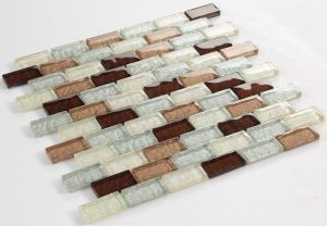 Cool Paving Glossy Crystal Antique Style Glass Mosaic pictures & photos