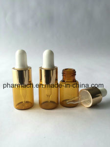 1ml 1/4 DRAM Amber Glass Vials with Glass Dropper pictures & photos