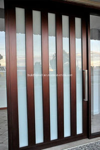 Modern Residential Frame Wooden Pivot Door pictures & photos