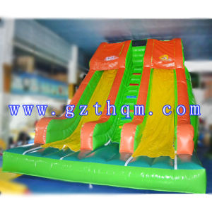 PVC Tarpaulin Inflatable Water Slide/Inflatable Water Slide with Water Pool pictures & photos