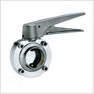 Sanitary Stainless Steel Butterfly Valve with Adjustable Handle (YAJ) pictures & photos
