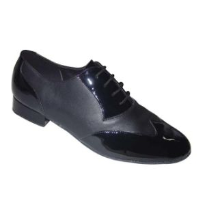 Black Patent Leather Men′s Tango Dance Shoes pictures & photos
