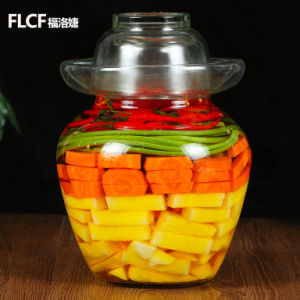 Chines Style Pickles Jar, 2.5kg-10kg Glass Pickles Bottle pictures & photos