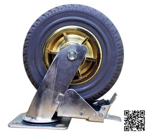 Heavy Duty Grey Rubber Brake Tyre Caster (8 inch) pictures & photos