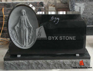 Black Granite Carving Headstone Stone Monument for Cetemery pictures & photos