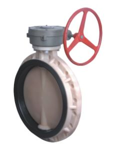 Best Factory PVDF Worm Gear Butterfly Valve, Industrial Plastic Valve pictures & photos