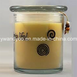 Lovely Soy Scented Glass Candle with Lid Popular in 2016