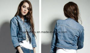 2016 Wholesale Women Jacket Fashion and Casual Ladies Denim Coat pictures & photos