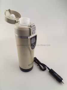 New Thermal Travel Cup &12V Car Adaptor Electric Thermos Bottle Heating Mug pictures & photos