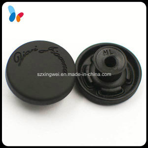 Imitated Plastic Rubber Cap Jeans Button Custom Black Denim Button pictures & photos