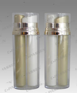 Hot Sale Skincare Packaging Acrylic Dual Pump Airless Bottle (PPC-AAB-025) pictures & photos