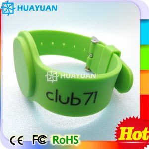 High Temperature Resistant Ntag216 Silicon Smart RFID NFC Wristband pictures & photos