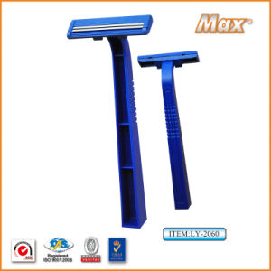 Twin Stainless Steel Blade Disposable Razor Fro Man (LY-2060) pictures & photos