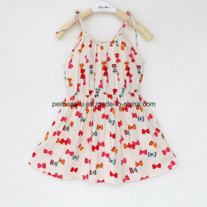 High Quality Little Printing Girls Dress Braces Skirt Children Wear pictures & photos